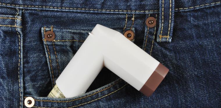 Asthma-Spray in der Hosentasche