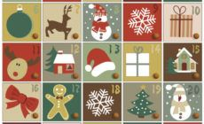 adventskalender mit 24 weihnachtlichen Bildern