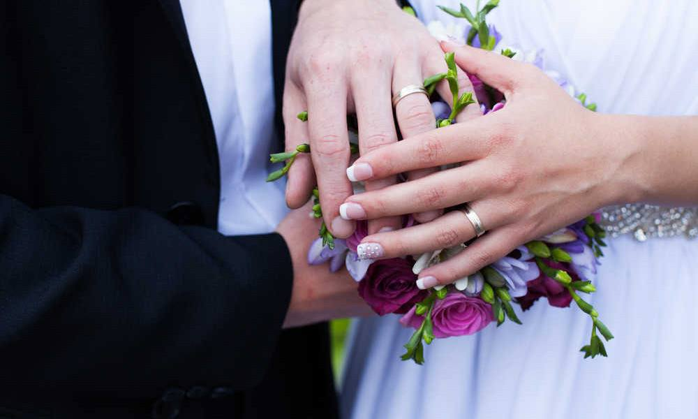Ehepaar Hände