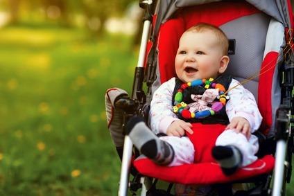 Der Babybuggy ist ein wichtiges Utensil für frisch gebackende Eltern