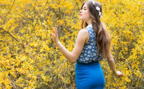 Frühlingshaftes Outfit