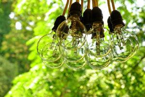 Lampen im Garten