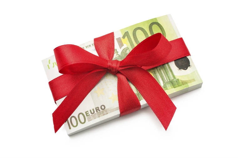 Geld Geschenke zu Weihnachten