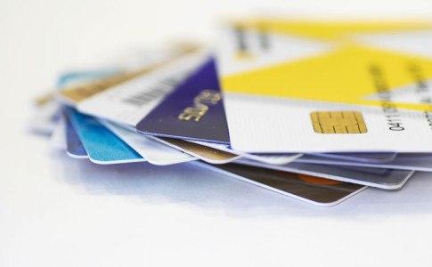 Stapel aus Geldkarten