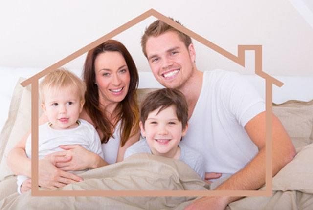 Hausbau Familie