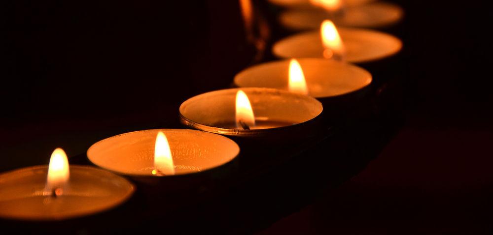 Kerzen im Kreis
