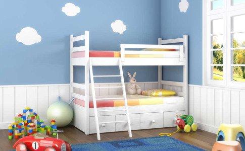 Kinderzimmer mit einem Hochbett