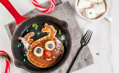 Lustiges Gericht zu Weihnachten als Rentier