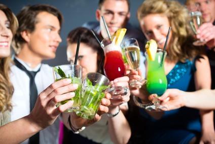 Party mit Alkohol und Freiheit