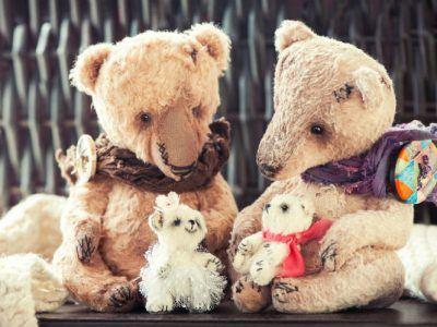 Teddybären familie