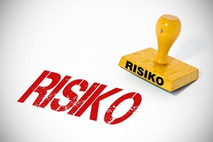 Ein roter Risikostempel