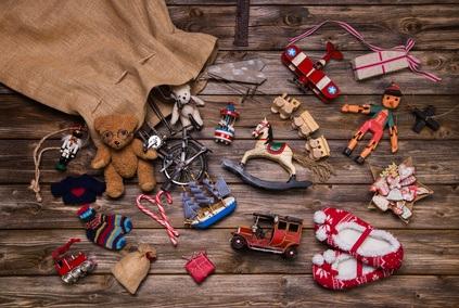 Weihnachten und Spielzeug