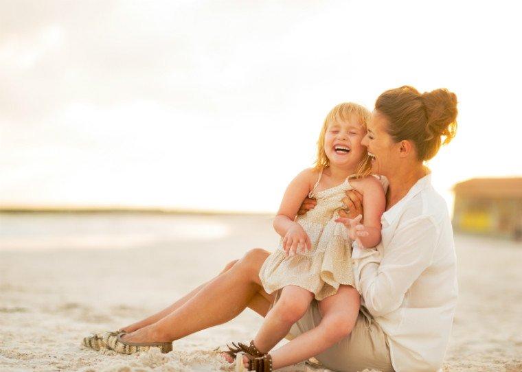 Strandtag mit der Familie