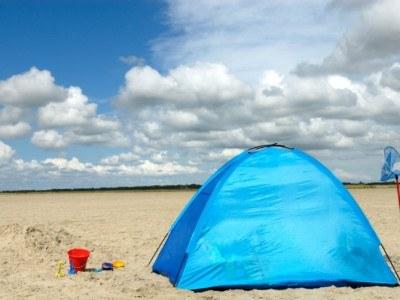 Strandzelte im Test Welche taugen fr die Familie