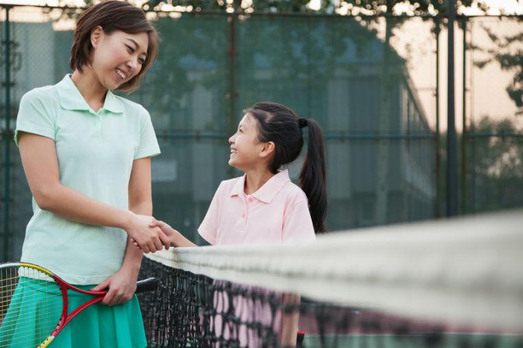 Tennisurlaub mit der Familie