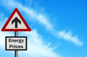 Verkehrszeichen_steigende Energiepreise