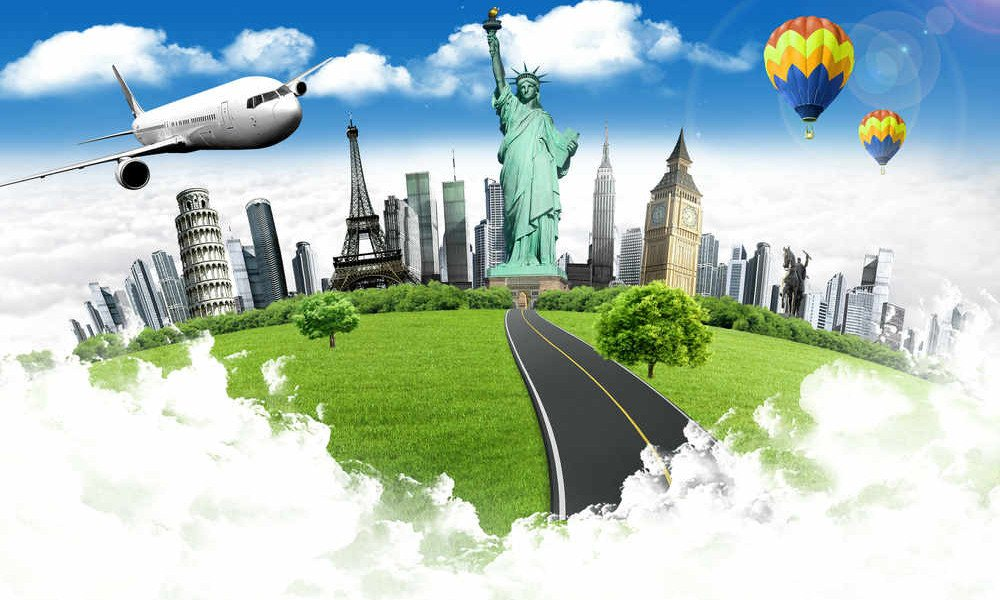 Weltreise quer über den Globus