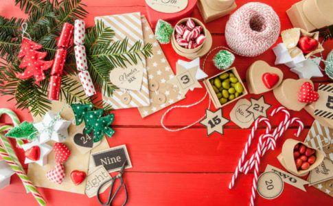 Ideen zum Adventskalender befüllen - Bastelsachen für Adventskalender