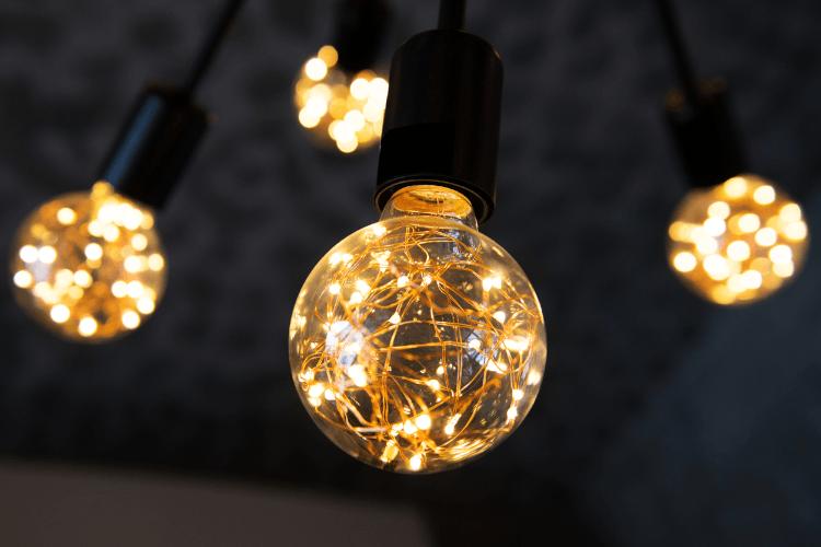 Nahaufnahme einer Glühbirne