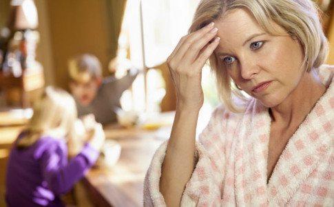 gestresste Mutter