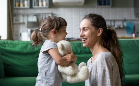 Mutter mit Ihrer Tochter