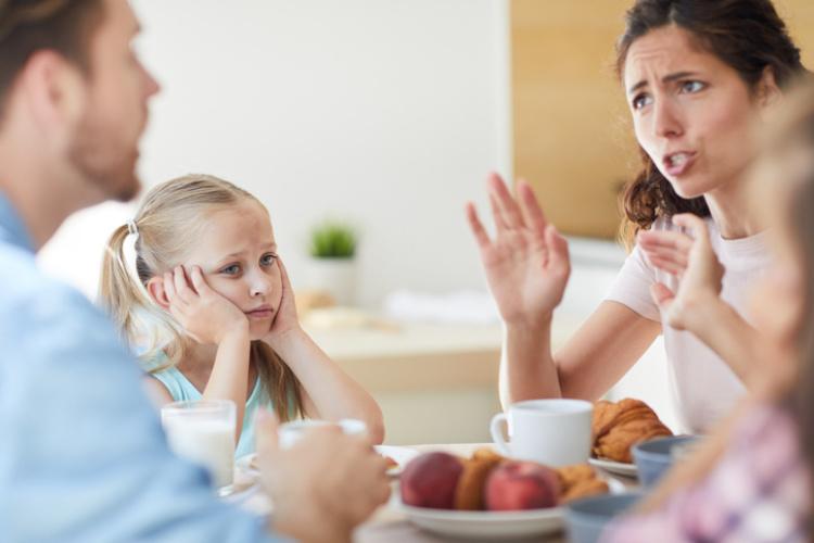 Familie im Streit