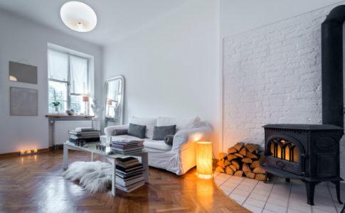 Gemütliche Wohnatmosphäre im Wohnzimmer