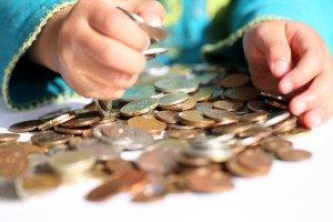 Geld in Kinderhänden