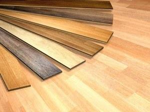 Laminatfußboden mit einer Auswahl verschiedener Laminat Varianten