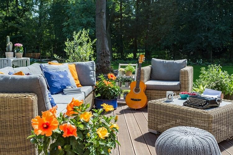 Outdoor Sitzmöglichkeiten - tolle Ideen für Garten & Balkon